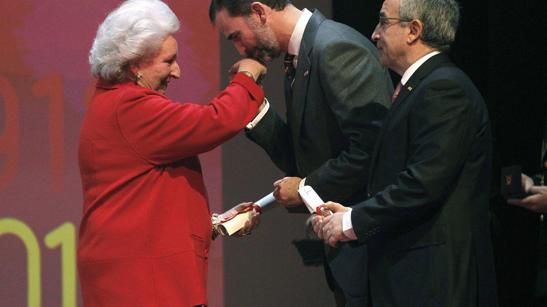 La infanta Pilar, en la gala del centenario del Comité Olímpico Español. (EFE)