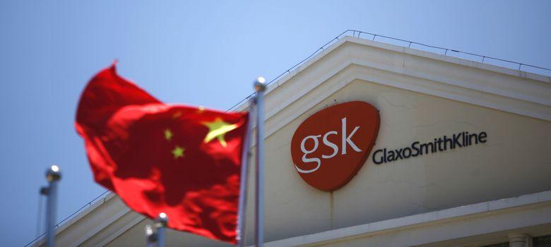 Foto: La bandera china ondea frente a una oficina de GlaxoSmithKline en Shangai (Reuters).