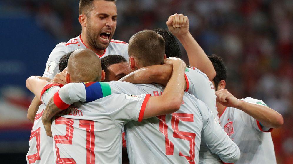 Foto: La Selección celebra un gol. (Reuters)