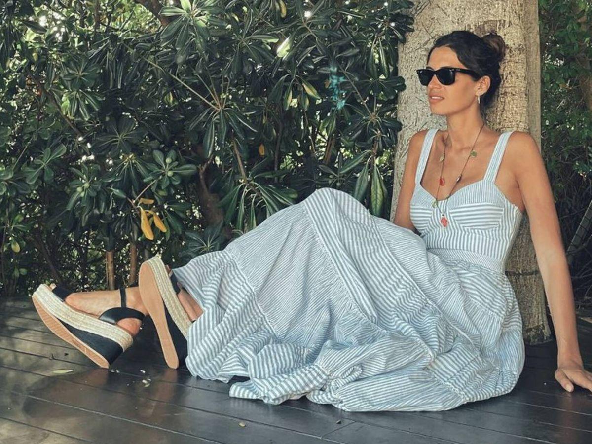 Foto: Sara Carbonero con su look náutico. (Imagen: Instagram)