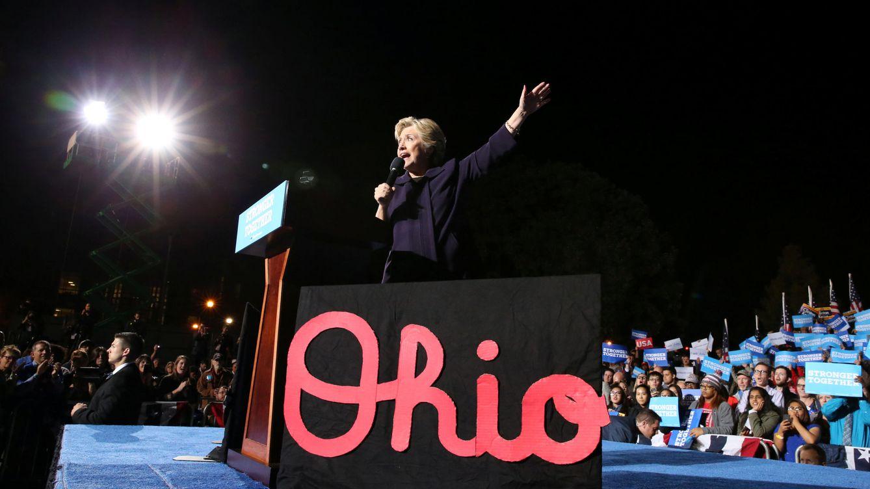 Foto: La candidata demócrata Hillary Clinton durante un mitin en Ohio, el 10 de octubre de 2016 (Reuters).