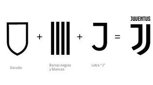 Una J como escudo de la Juve... y un oso panda (al tiempo) en el del Atleti