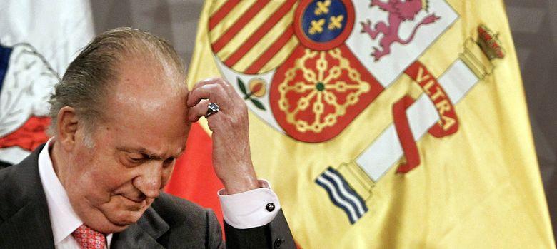 Foto: El rey de españa, don juan carlos, se entrevista con el presidente de chile, sebastián piñera