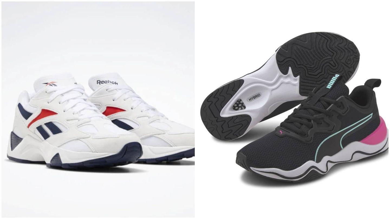 Zapatillas deportivas de Reebok y Puma con descuento en El Corte Inglés. (Cortesía)