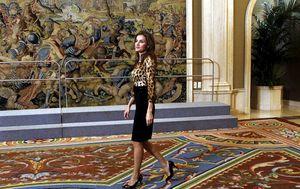 La princesa Letizia durante un acto oficial en Zarzuela