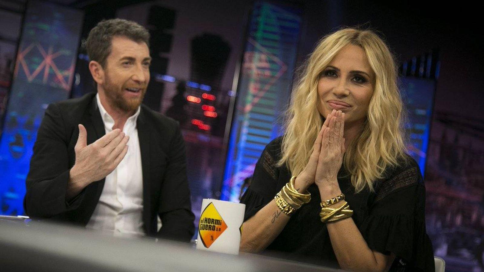 Foto: Marta Sánchez responde en 'El hormiguero' a la polémica del himno nacional. (Antena 3)