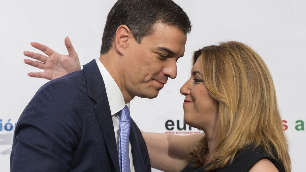 Foto: La presidenta de la Junta de Andalucía, Susana Díaz, y el secretario general del PSOE y candidato a la Presidencia del Gobierno de España, Pedro Sánchez. (EFE)