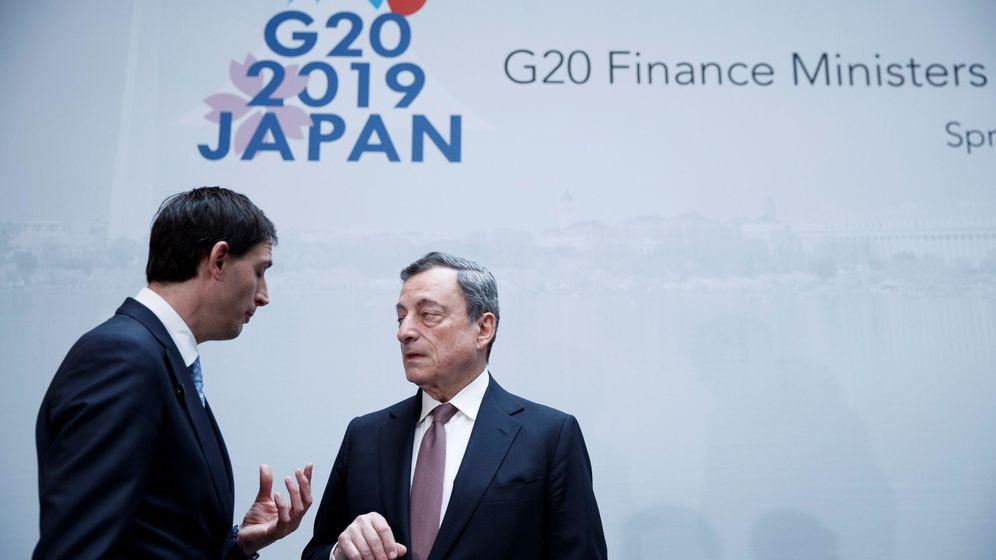 Foto: El presidente del BCE, Mario Draghi, junto al ministro holandés de Finanzas, Wopke Hoekstra, en el G20 (Reuters)
