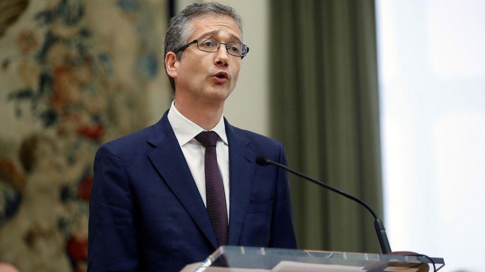 Foto: Hernández de Cos toma posesión de su cargo. (EFE)