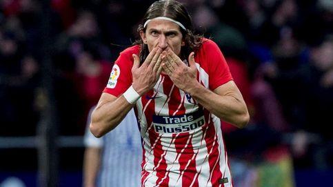 Filipe Luis rompe la tranquilidad en el Atlético y le crea un problema al Cholo