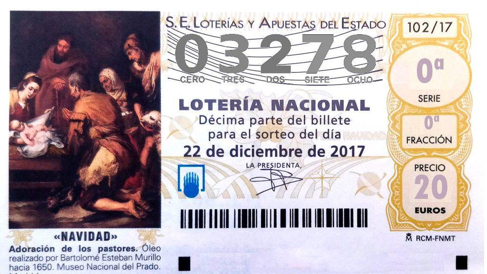 Foto: 03.278, el quinto quinto premio de la Lotería de Navidad