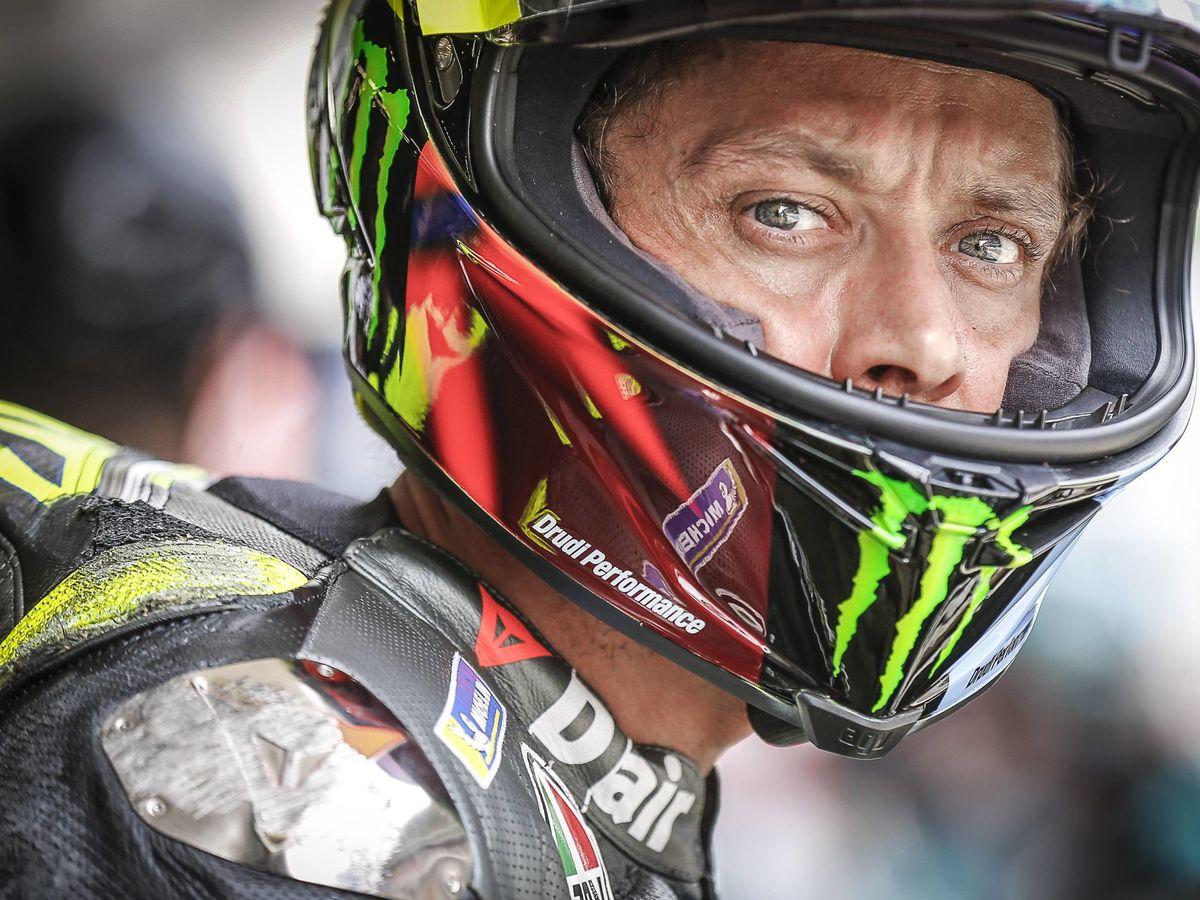 Foto: Rossi en el GP de Cataluña. (Cordon)