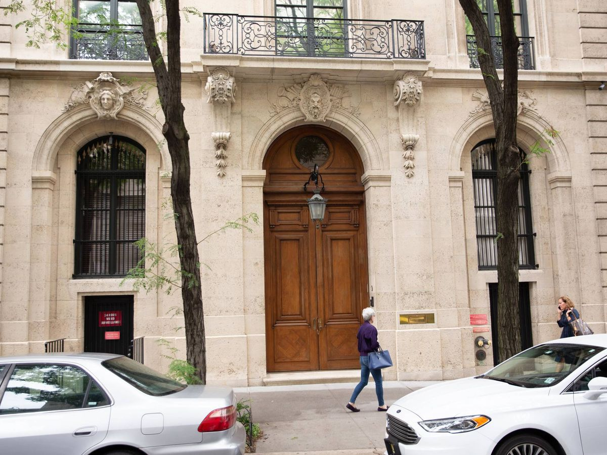 Foto:  La mansión a la venta de Epstein en NY. (Getty)