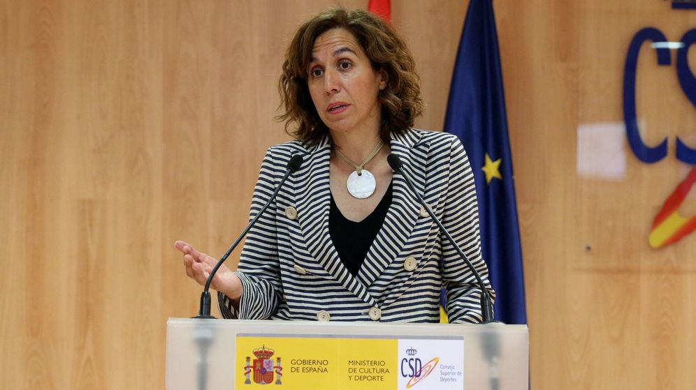 Foto: Irene Lozano, hace tres meses, en la toma de posesión de Joaquín de Arístegui como director general de Deportes (Efe).