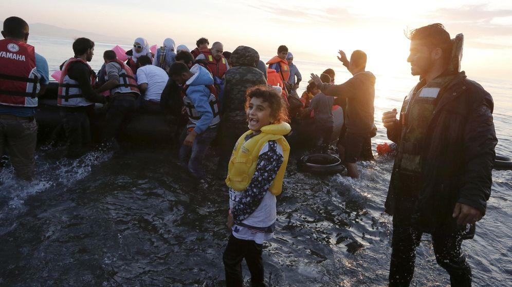 Foto: Refugiados sirios llegan a la isla de Kos. (Reuters)
