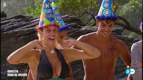Lara Álvarez regala un festín a los concursantes de 'SV' por su cumpleaños
