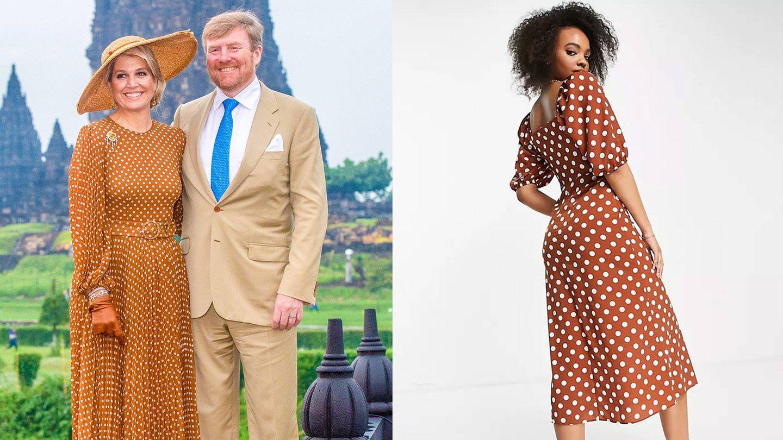 Los reyes de Holanda en Indonesia / Vestido de Asos. (Cordon Press / Cortesía)