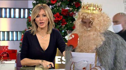 Carbón para 'Espejo Público': el rey Gaspar deja pasmada a la reportera de Antena 3