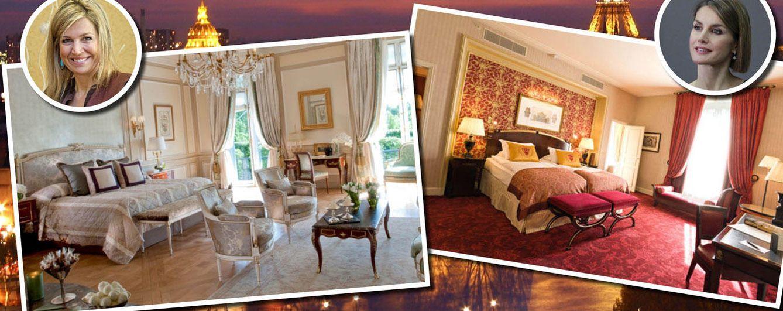 Foto: Máxima y Letizia y sus respectivos hoteles de París