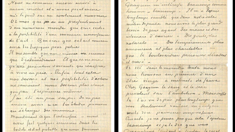 La carta de Van Gogh y Gauguin sobre sus inspiradoras visitas a los burdeles y el arte