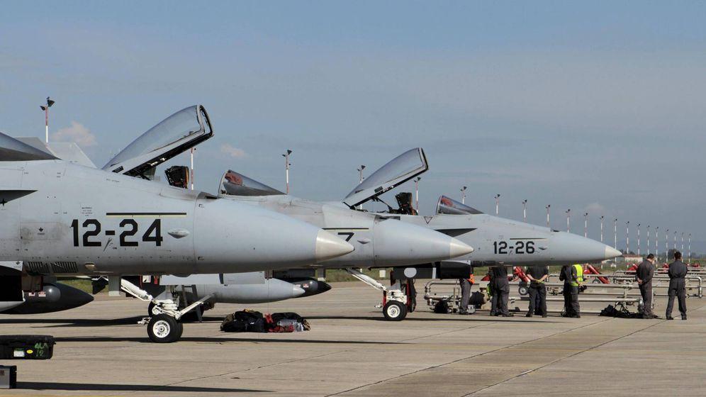 Foto: F-18 de la Fuerza Aérea española. (EFE)