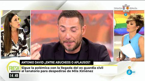 Isabel Rábago condena los abucheos a Antonio David en el funeral de Mila