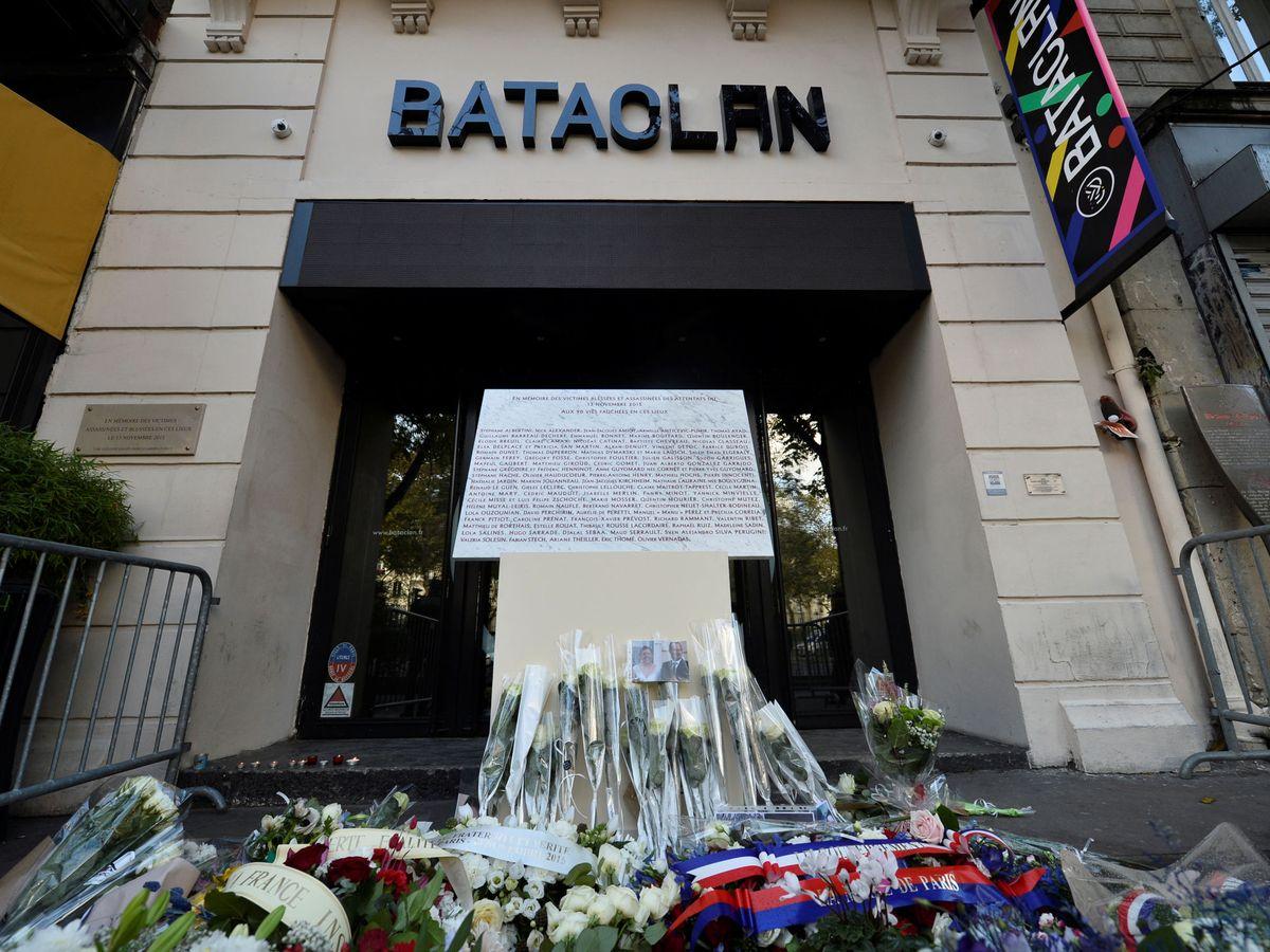 Foto: Acto conmemorativo en la sala Bataclan. (Reuters)