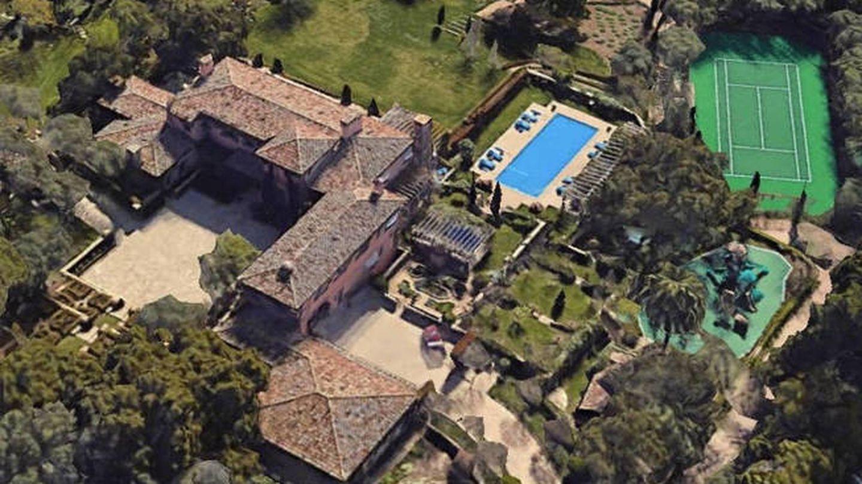 La nueva mansión de Meghan y Harry en Santa Bárbara. (Google Earth)