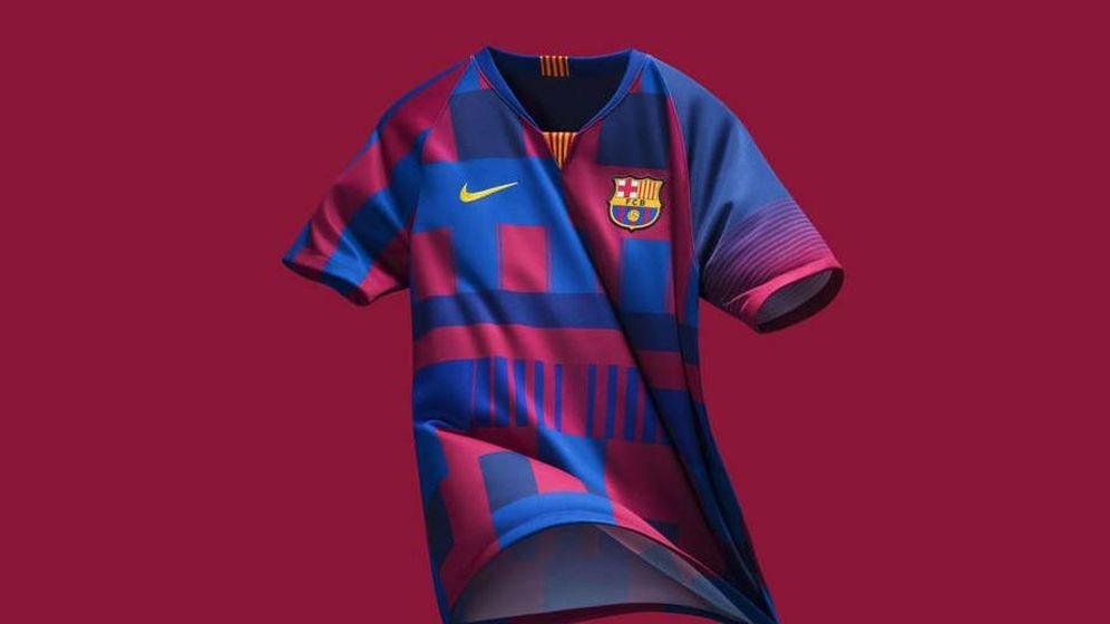 Nike celebra sus 20 años con el Barcelona con una camiseta en edición  limitada 2bd5375b9a6