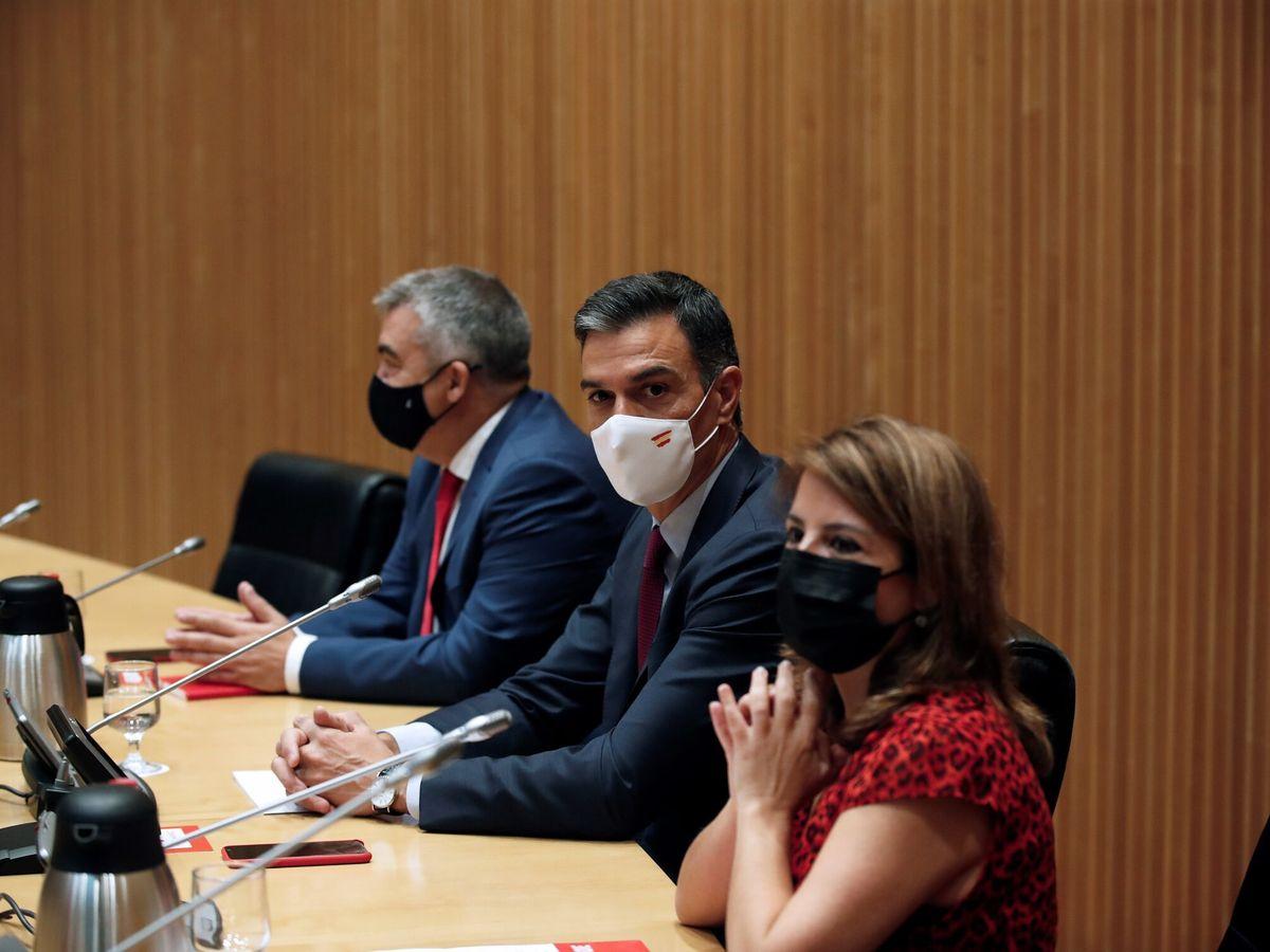 Foto: Pedro Sánchez preside una reunión del PSOE en el Congreso. (EFE)