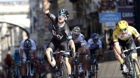 Salvaje sprint de Viviani y Matthews coge el rosa, con Contador a siete segundos