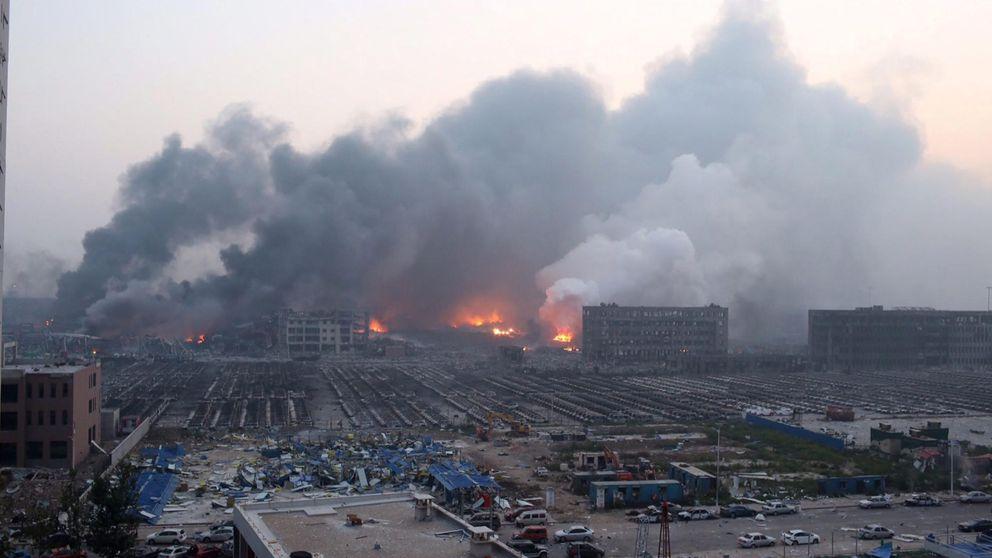 Brutal explosión en la ciudad china de Tiajin