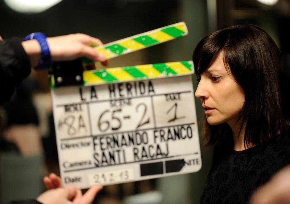 Foto: Marián Álvarez en el rodaje de 'La herida'