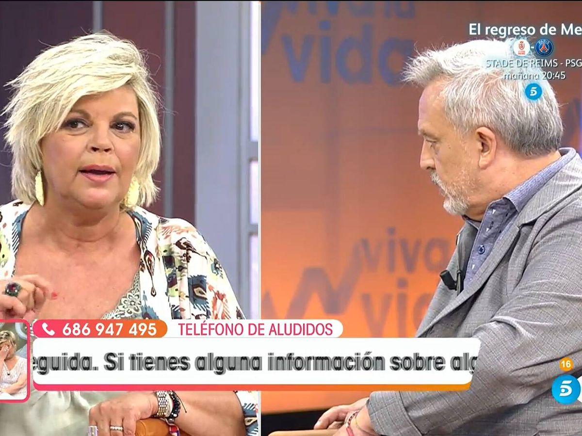 Foto: Terelu Campos y Enrique del Pozo, en 'Viva la vida'. (Mediaset)