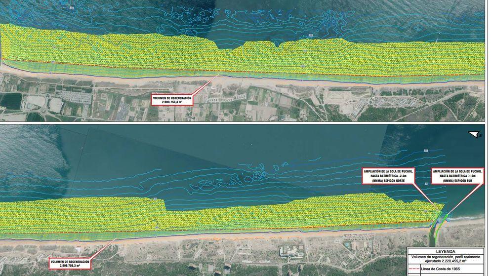 Foto: Franja costera de Valencia afectada por la regresión