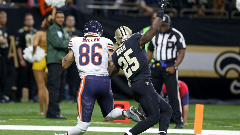 Foto: Momento exacto de la lesión de Zach Miller. (Reuters)