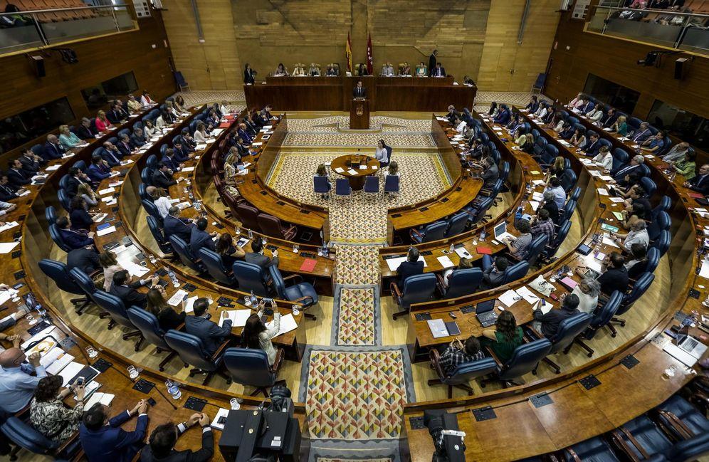 Foto: Imagen del Pleno de la Asamblea de Madrid. (EFE)