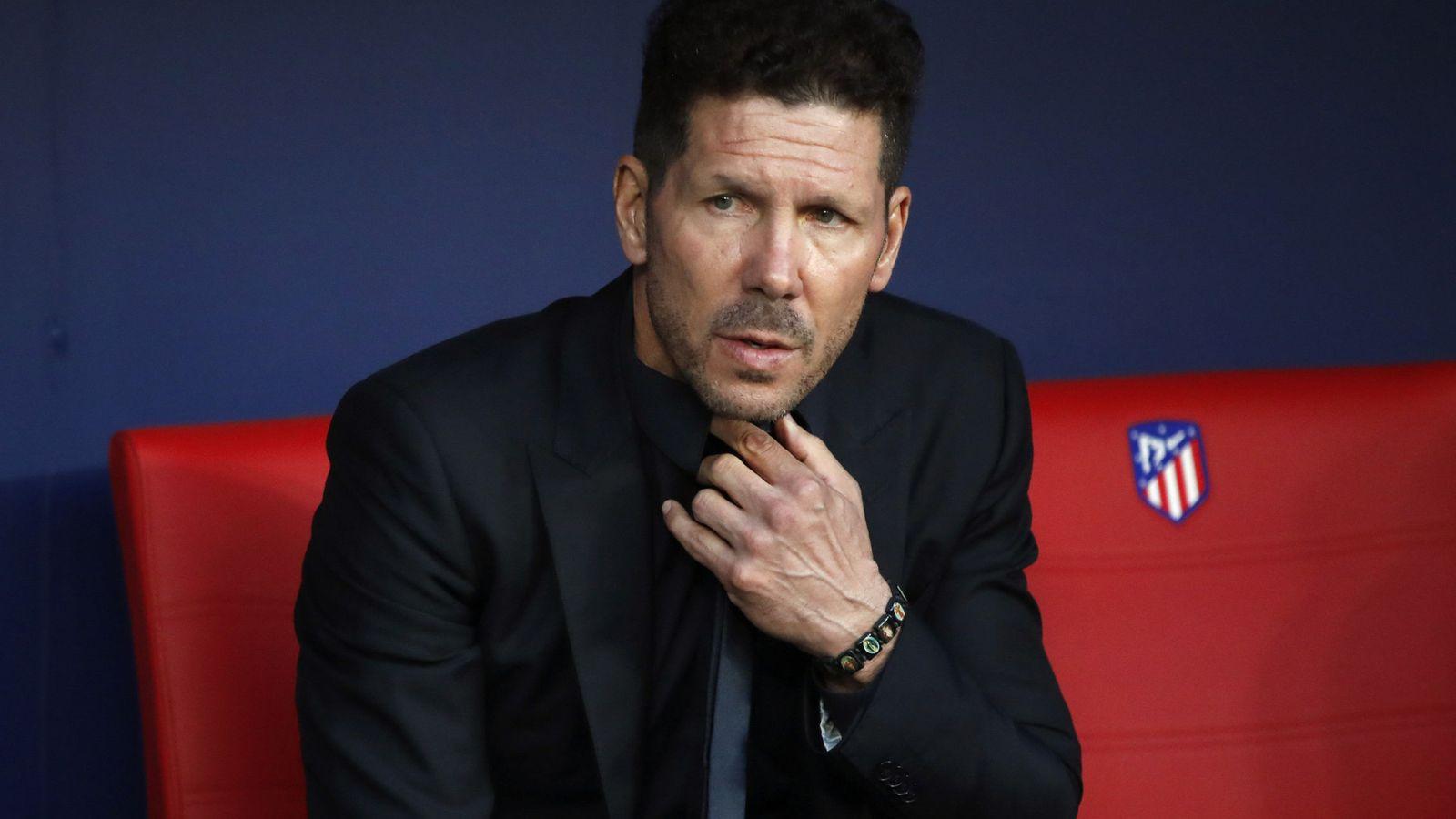 Foto: En la imagen, el Cholo Simeone en el banquillo del Wanda Metropolitano. (EFE)