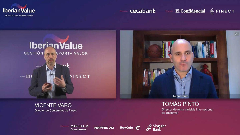 Vicente Varó, CCO de Finect, y Tomás Pintó, director de Renta Variable Internacional de Bestinver.