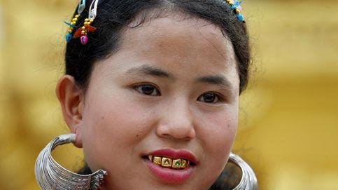Ceremonia de año nuevo en Yangon, Myanmar