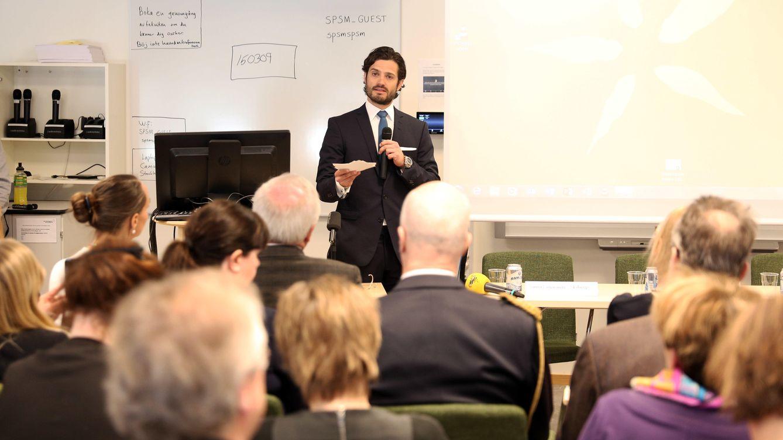Foto: Carlos Felipe durante su charla sobre dislexia (Gtres)