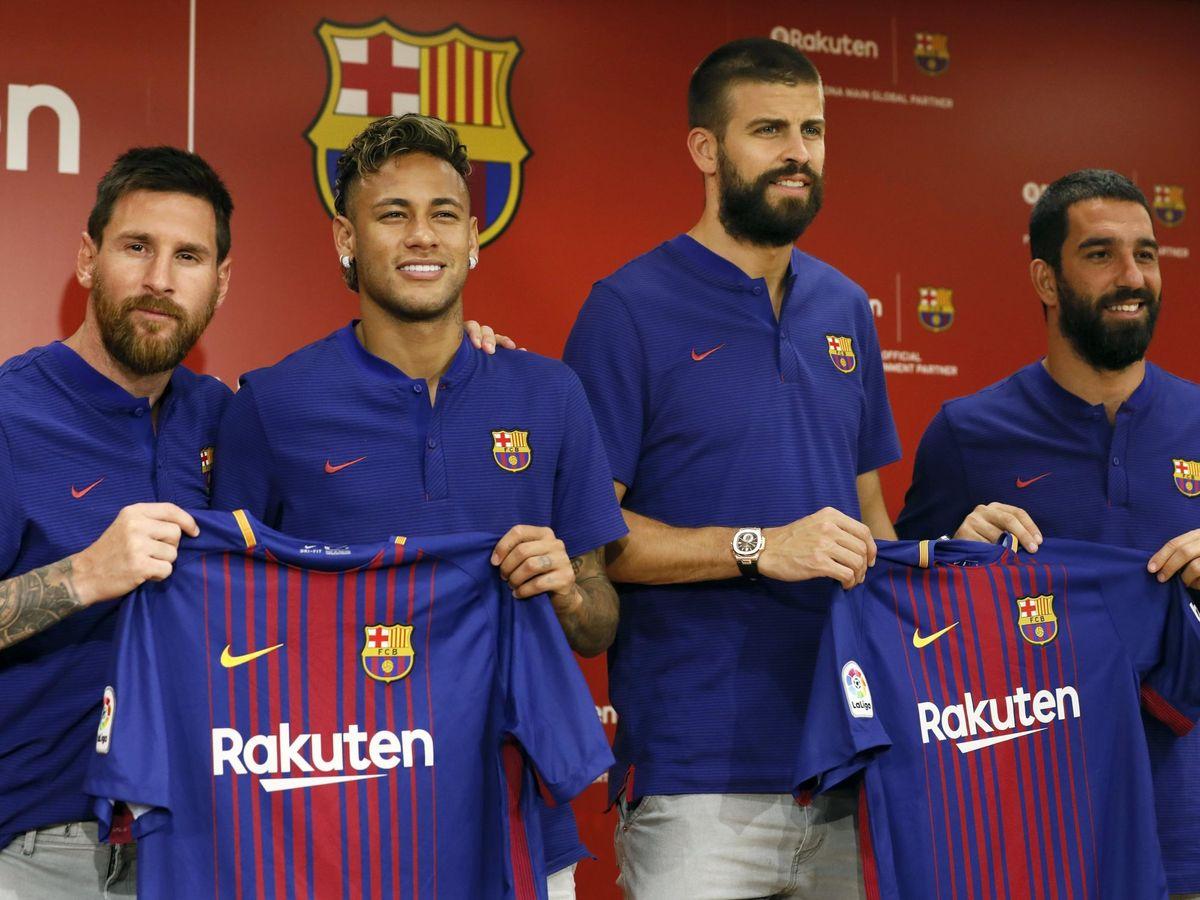 Foto: El Barcelona, tras cerrar en 2017 el acuerdo de patrocinio con Rakuten. (EFE)