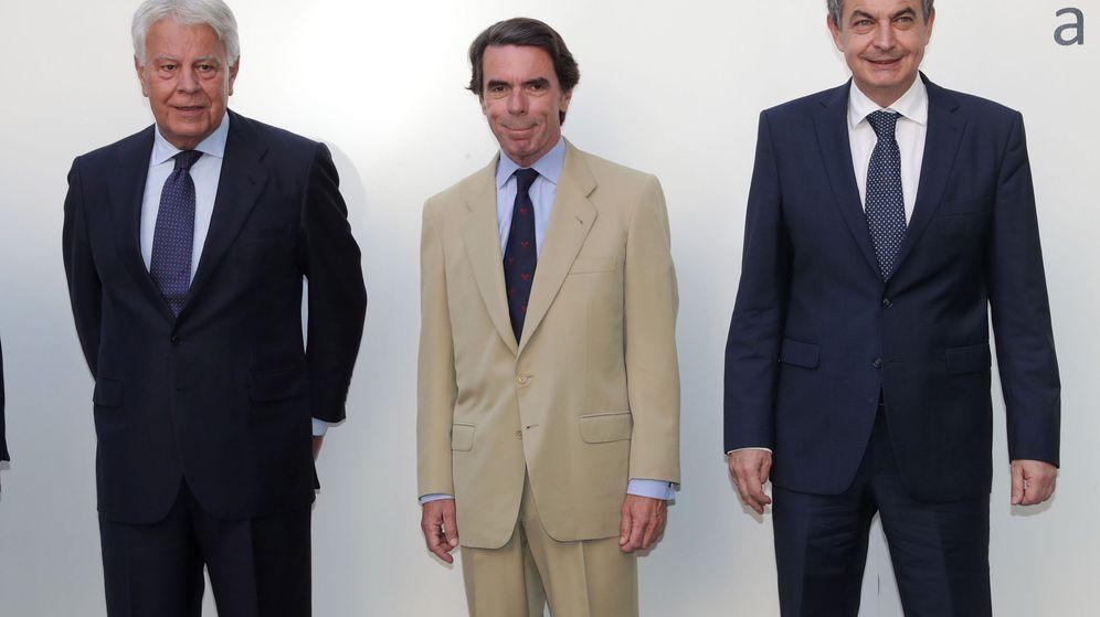 Foto: Los ex presidentes José María Aznar y José Luis Rodríguez Zapatero