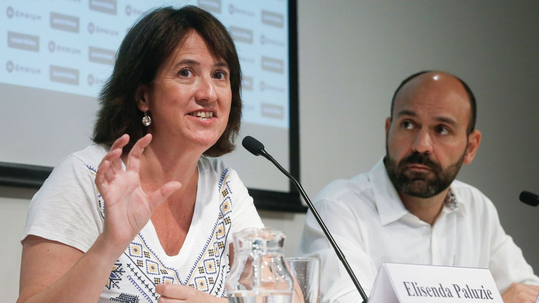 Elisenda Paluzie y el vicepresidente de Òmnium Cultural, Marcel Mauri, hicieron en julio un llamamiento a la 'unidad' de los independentistas ante la sentencia futura del 'procés'. (EFE)
