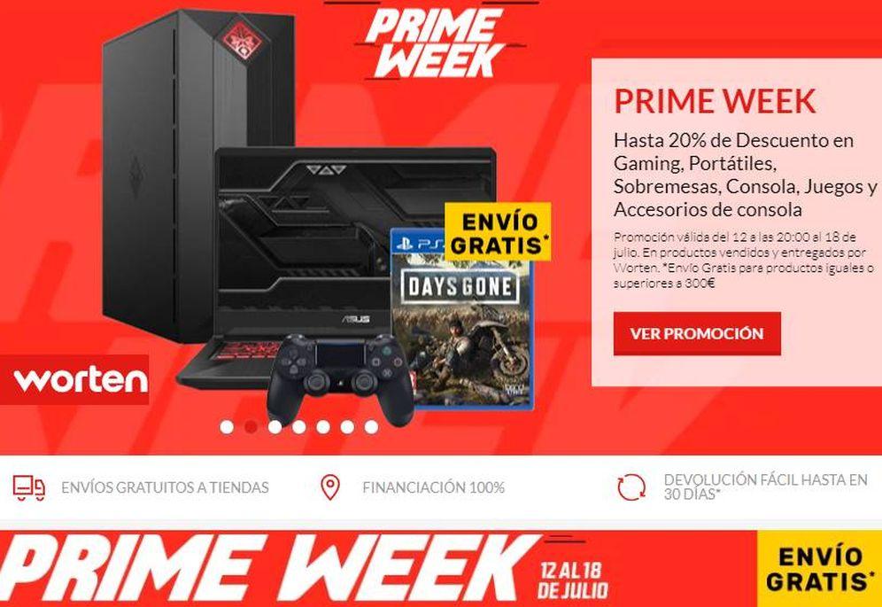 Foto: Así es la 'Prime Week' de la portuguesa Worten esta semana.
