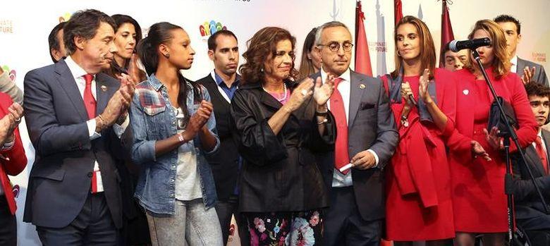 Foto: Imagen de la rueda de prensa de la delegación española tras conocer la derrota (Efe)