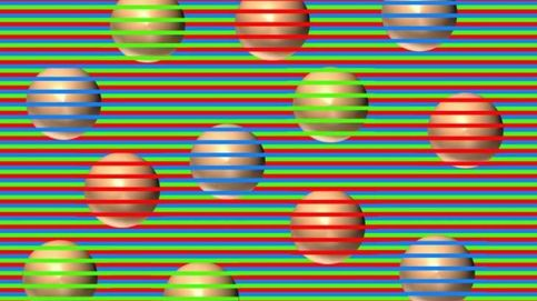 Así funciona la ilusión óptica que te engaña para que veas varios colores