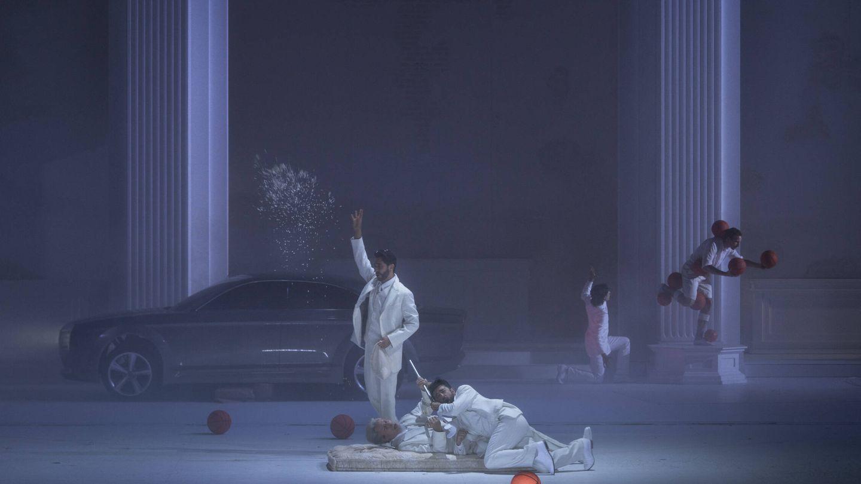 Vito Priante, Mika Kares y Davide Luciano. (Festival de Salzburgo/ Ruth Walz)