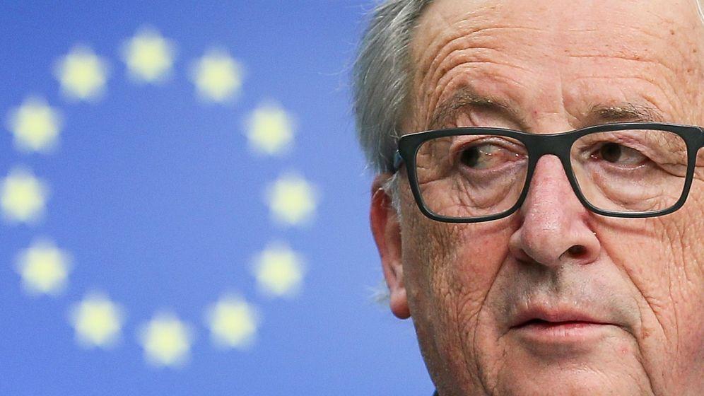 Foto: Juncker, anunciando represalias de la UE si EEUU le impone aranceles. (EFE)