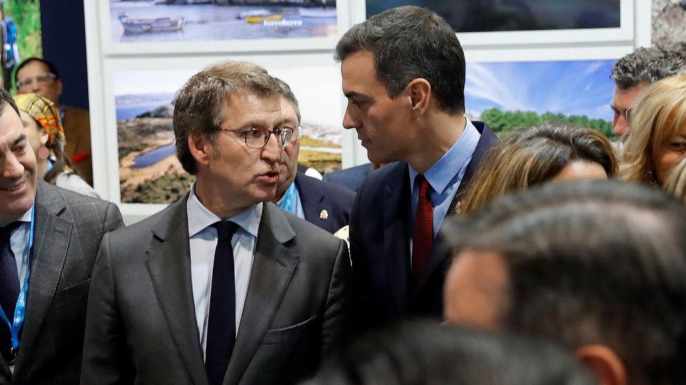 Foto: Feijóo y Sánchez en una imagen de archivo en FITUR. (EFE)